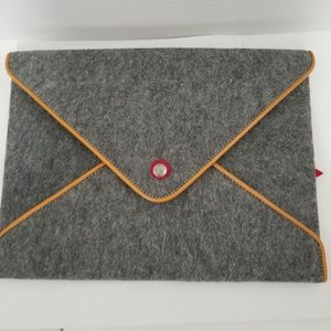 Wool Felt Handmade laptop sleeve case or document